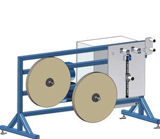 Driven Payoff (single or dual tape) with integrated TapeFormer Mounting Bench