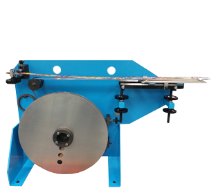 Undriven Braked Payoff with integrated TapeFormer Mounting Bench
